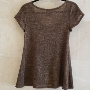 H&M Tops - BRAND NEW H&M BROWN AND GOLD TOP BLOUSE